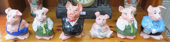 SET OF SIX WADE NATWEST PIGS (AT FAULT)