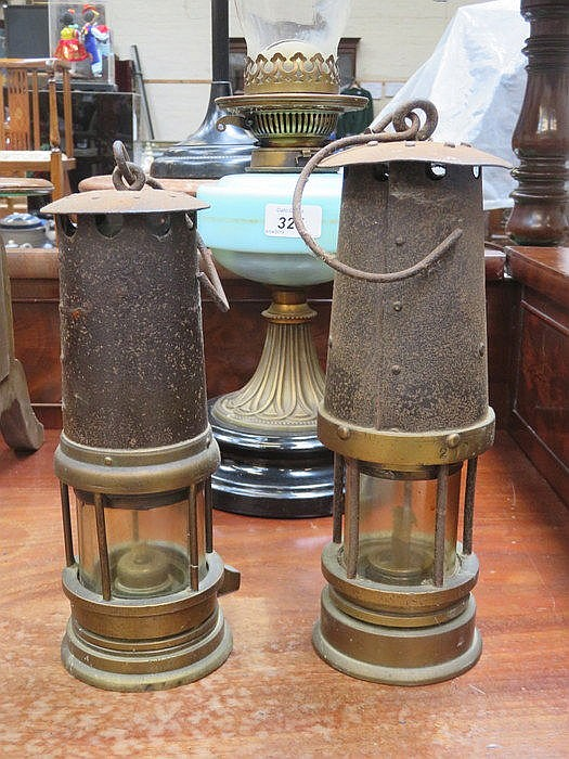 TWO VINTAGE MINER'S LAMPS