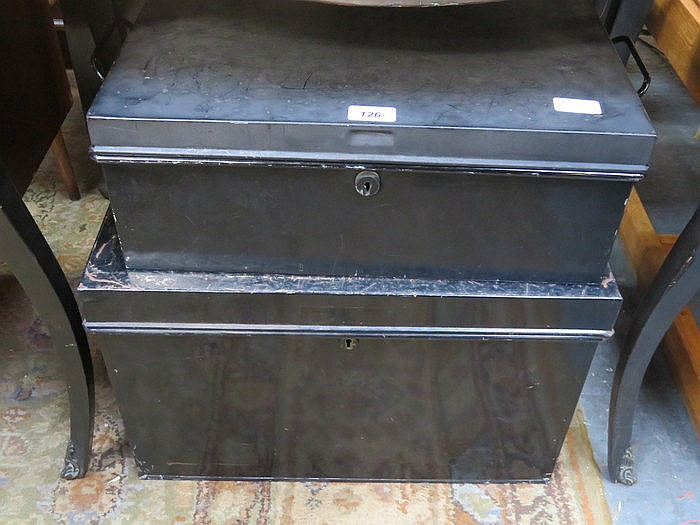 TWO METAL TRUNKS