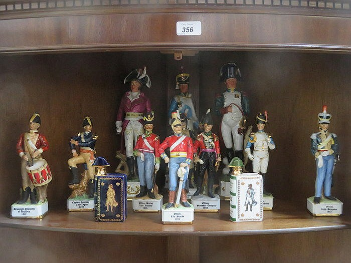 VARIOUS CONTINENTAL CERAMIC SOLDIERS INCLUDING CAPODIMONTE, ETC, PLUS TWO L