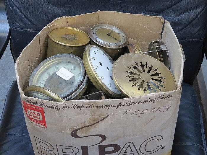 PARCEL OF VARIOUS CLOCK SPARES AND ACCESSORIES, ALSO CASED BOLEX CINE CAMER