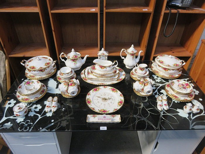 QUANTITY OF ROYAL ALBERT OLD COUNTRY ROSE CHINA, APPROXIMATELY SIXTY-PLUS P