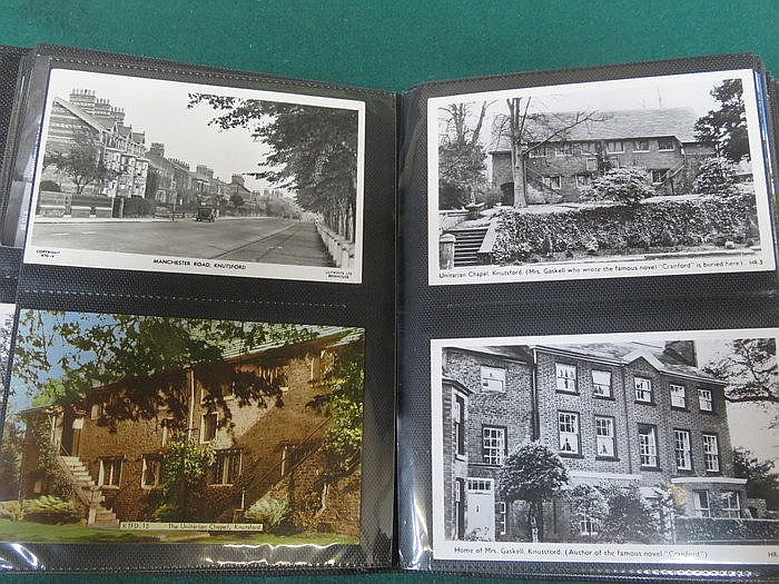 THREE ALBUMS OF VARIOUS POSTCARDS INCLUDING MILITARY, SAILING SHIPS, SOLDIE