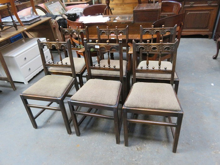 FIVE AND ONE ERCOL DINING CHAIRS