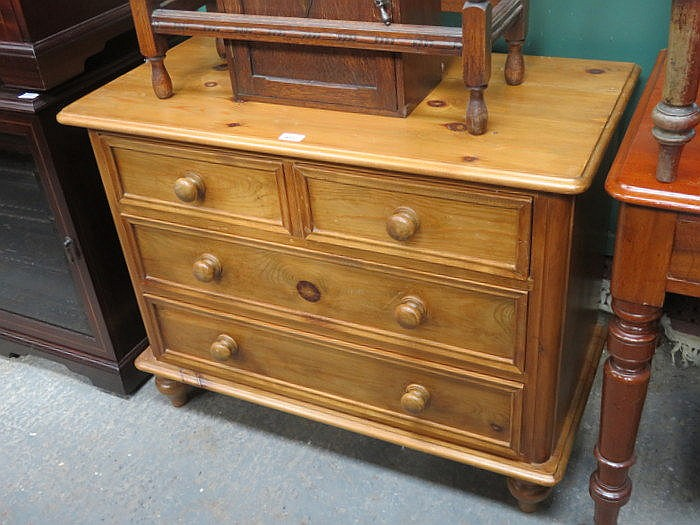PINE TWO OVER TWO CHEST OF DRAWERS