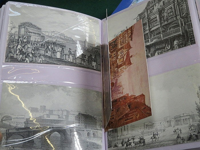 THREE ALBUMS OF VARIOUS POSTCARDS INCLUDING PRE 1947 AND VARIOUS CITIES INC