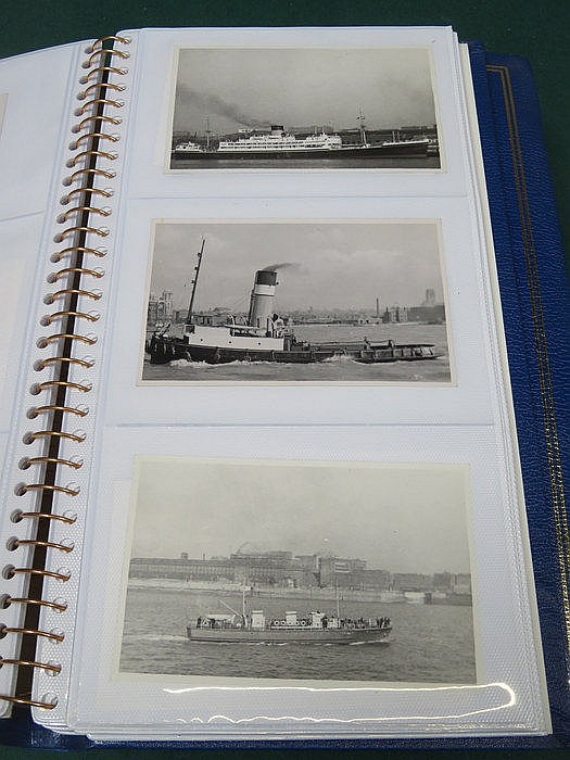 THREE ALBUMS OF VARIOUS POSTCARDS INCLUDING CANAL BOATS, WRECKS, CANADIAN S