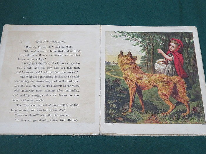 19th CENTURY VOLUME ON CANVAS- LITTLE RED RIDING HOOD BY GEORGE ROUTLEDGE