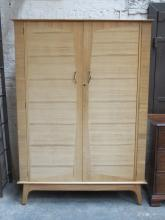 MAPLE 1970s STYLE TWO DOOR WARDROBE