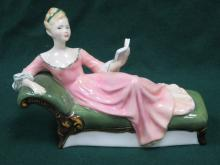 ROYAL DOULTON GLAZED CERAMIC FIGURE- REPOSE, HN2272