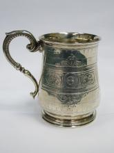 HALLMARKED SILVER VICTORIAN CHRISTENING CUP, SHEFFIELD ASSAY