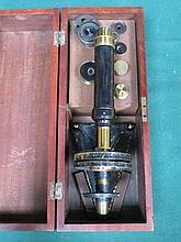 MAHOGANY CASED MICROSCOPE BY R&J; BECK, LONDON, No.5951