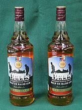 TWO BOTTLES OF UNOPENED BELLS SCOTCH WHISKEY, HELP FOR THE HEROES EDITION