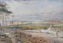 FRAMED WATERCOLOUR DEPICTING A COUNTRY SCENE, SIGNED TO BOTTOM RIGHT (INDIS