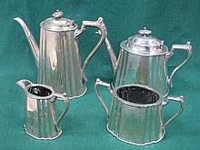 SILVER PLATED FOUR PIECE TEASET