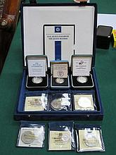 PARCEL OF CASED ROYAL MINT SILVER PROOF COINS