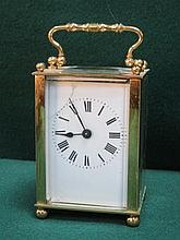 VINTAGE BRASS CARRIAGE CLOCK (AT FAULT)