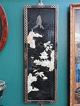 MOTHER OF PEARL ORIENTAL LACQUERED PANEL
