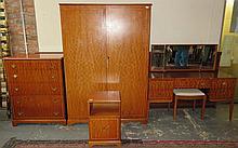 BEITHCRAFT LIMITED SCOTLAND MODERN INLAID FIVE PIECE BEDROOM SUITE COMPRISI