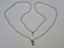 STRAND OF CULTURED PEARLS ON 925 SILVER CLASP WITH 925 SILVER PENDANT