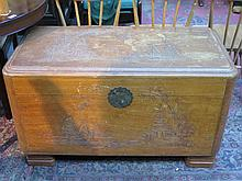 CARVED ORIENTAL STYLE CAMPHOR CHEST