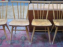 SET OF FOUR ERCOL 1960s CHAIRS