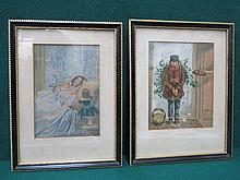 TWO FRAMED 19th CENTURY BAXTER PRINTS