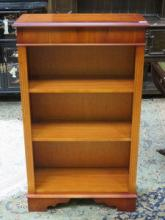 SET OF REPRODUCTION YEW COLOURED OPEN BOOKSHELVES