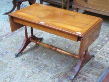 REPRODUCTION INLAID YEW COLOURED DROP LEAF SOFA TA