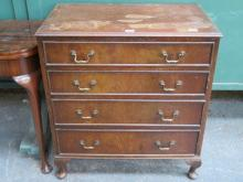 MAHOGANY CHEST OF FOUR DRAWERS