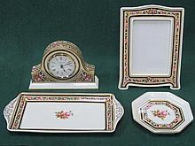 FOUR PIECES OF WEDGWOOD CLEO FLORAL DECORATED CHINA