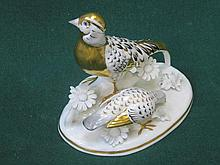 CROWN STAFFORDSHIRE CERAMIC FIGURE OF A GOLDEN PHEASANT, DESIGNED AND MODEL