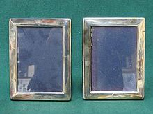 PAIR OF HALLMARKED SILVER FREE STANDING PHOTO FRAME, SHEFFIELD ASSAY