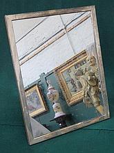 LARGE HALLMARKED SILVER MIRROR, BIRMINGHAM ASSAY, APPROXIMATELY 42cm x 32cm