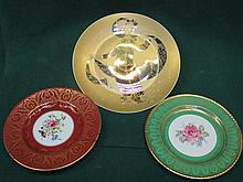 ROSENTHAL CIRCULAR CERAMIC PLAQUE AND WORCESTER PLATE AND PARAGON PLATE