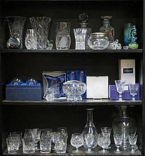 LARGE QUANTITY OF VARIOUS GLASSWARE INCLUDING CUNARD PAPERWEIGHT, CAITHNESS, ETC.  SOME BOXED
