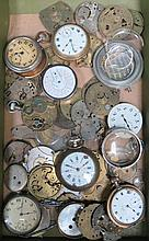 PARCEL OF POCKET WATCH PARTS AND ACCESSORIES