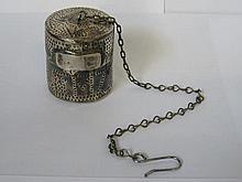 EARLY SILVER INFUSER, UNHALLMARKED