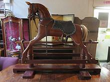 MODERN WOODEN ROCKING HORSE