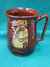ROYAL DOULTON KINGSWARE GLAZED JUG- ENOUGH'S AS GOOD AS A FEAST, APPROXIMATELY 16cm HIGH
