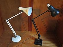 TWO VINTAGE ANGLEPOISE LAMPS