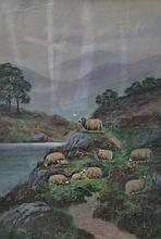 JOHN FOX, PAIR OF GILT FRAMED WATERCOLOURS DEPICTING HIGHLAND SCENES, APPROXIMATELY 38cm x 26cm