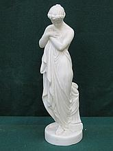 PARIAN WARE STYLE UNGLAZED CLASSICAL STYLE FIGURINE, APPROXIMATELY 36cm HIGH