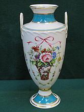 MINTON BICENTENARY 'MINTON ROSE BASKET' HANDPAINTED AND GILDED CERAMIC VASE, No.2411, APPROXIMATELY 22cm HIGH