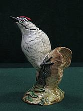 BESWICK GLAZED CERAMIC LESSER SPOTTED WOODPECKER, No.2420, DESIGNED BY GRAHAM TONGUE, APPROXIMATELY 15cm HIGH