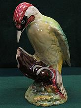 BESWICK GLAZED CERAMIC WOODPECKER, No.121813, DESIGNED BY ARTHUR GREDINGTON, APPROXIMATELY 22cm HIGH