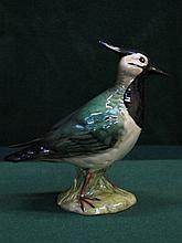 BESWICK GLAZED CERAMIC LAPWING, No.2416A, DESIGNED BY ALBERT HALLAM, APPROXIMATELY 15cm HIGH