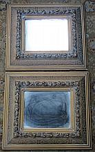 PAIR OF HEAVILY GILDED RECTANGULAR WALL MIRRORS