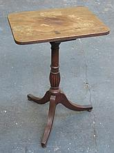 ANTIQUE MAHOGANY OCCASIONAL TABLE ON TRIPOD SUPPORTS