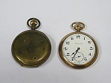 GOLD PLATED POCKET WATCH PLUS ONE OTHER POCKET WATCH